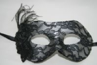 Silver and Black Lace Mask